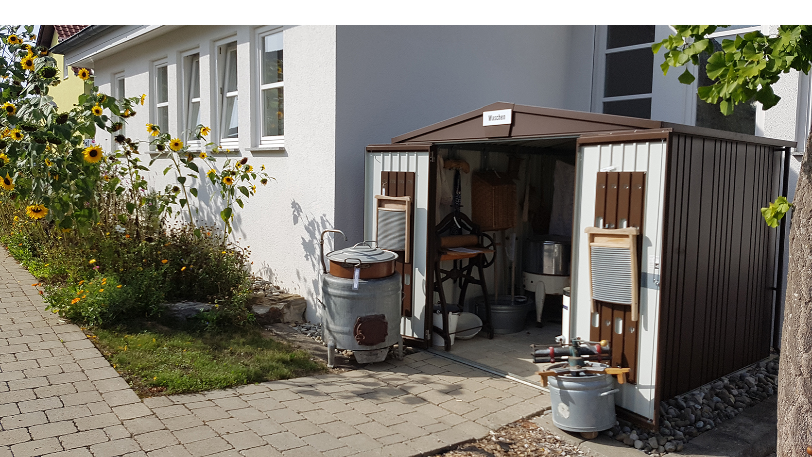 Bild vom Waschhaus im Außenbereich